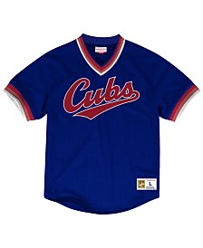 Mitchell & Ness Men's Chicago Cubs Mesh V-Neck Jersey
