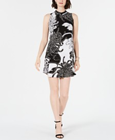 Robbie Bee Petite Printed Trapeze Dress