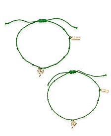 Kitsch Gold-Tone 2-Pc. Set Palm Tree String Slider Bracelets