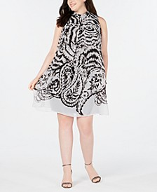 Plus Size Printed Shift Dress
