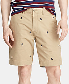 """Polo Ralph Lauren Men's 9.25"""" Classic Fit Embroidered Stretch Shorts"""