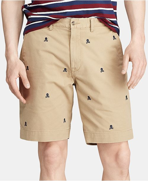 "Polo Ralph Lauren Men's 9.25"" Classic Fit Embroidered Stretch Shorts"