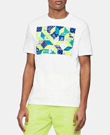 Calvin Klein Jeans Men's Quilt Institutional Logo Graphic T-Shirt