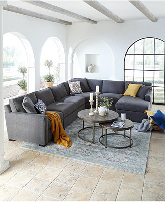 Furniture Radley Fabric Sectional Sofa Collection Created For Macy S Amp Reviews Furniture Macy S