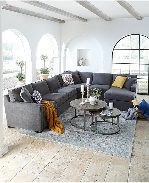 Furniture Radley Fabric Sectional Sofa Collection, Created for ...