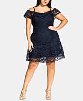fe722e571f58 City Chic Trendy Plus Size Embroidered-Lace Off-The-Shoulder Dress