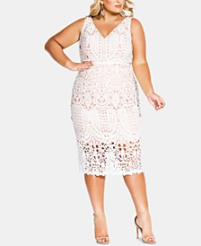 Trendy Plus Size All Class Lace Sheath Dress