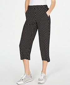 Printed Cropped Pants