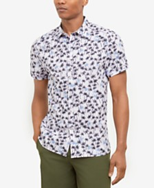 Kenneth Cole New York Men's Breezy Palm Print Shirt