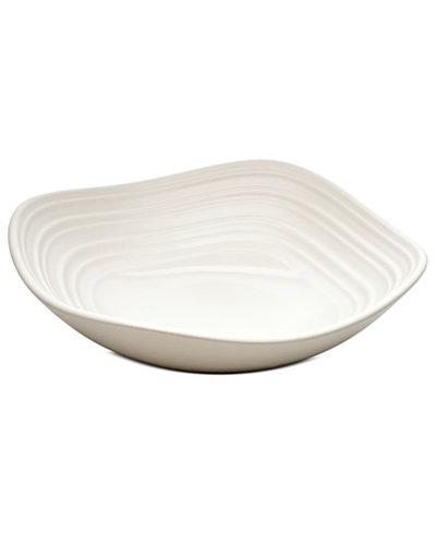 Mikasa Dinnerware, Swirl Square White Fruit Bowl - Serveware ...
