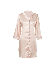 Personalized Blush Satin Night Shirt in L/XL