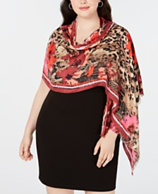 I.N.C. Animal Floral Print Pashmina, Created for Macy's