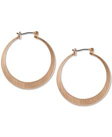 Lucky Brand Classic Flat Medium Hoop Earrings