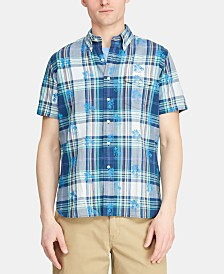 Polo Ralph Lauren Men's Custom Fit Cotton Madras Shirt