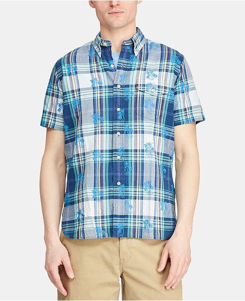 Polo Ralph Lauren Men's Custom Fit Cotton Madras Shirt