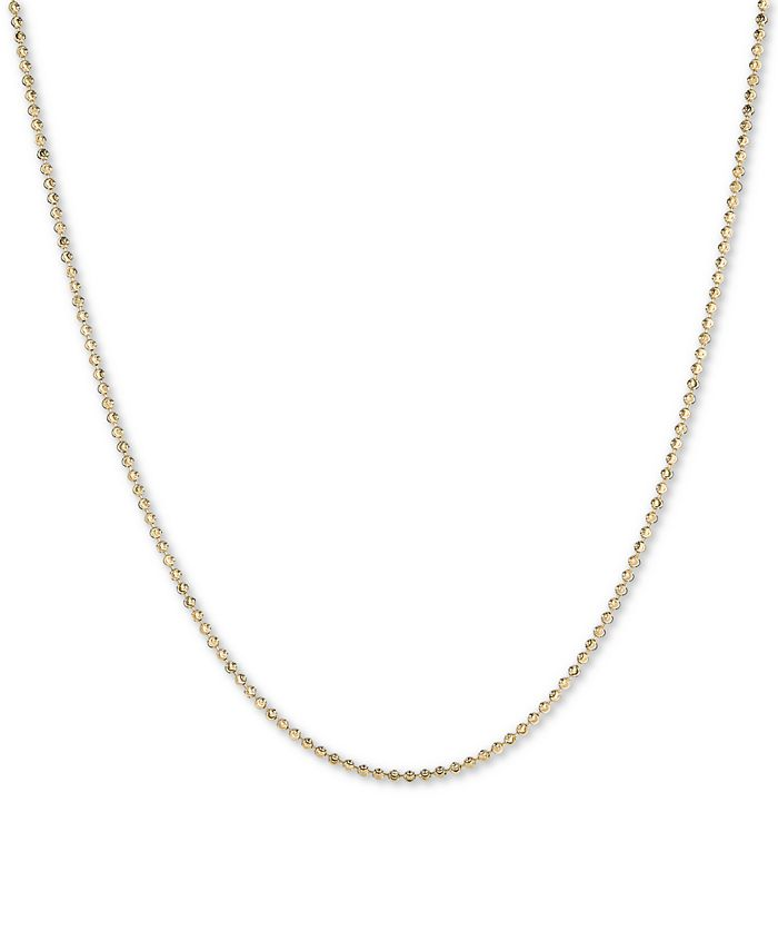 """Italian Gold - Moon Link 18"""" Chain Necklace in 14k Gold"""