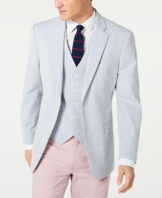 Men's Modern-Fit TH Flex Stretch  Seersucker Stripe Sport Coat