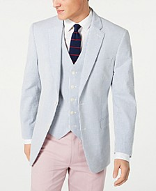 Men's Modern-Fit THFlex Stretch Seersucker Stripe Sport Coat & Vest Suit Separates