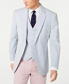 Men's Modern-Fit THFlex Stretch Seersucker Stripe Sport Coat & Vest Suit Separates
