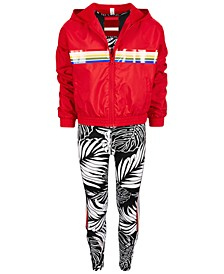 Big Girls Windbreaker, Sports Bra & Leggings, Created for Macy's