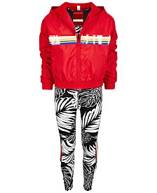 Ideology Big Girls Windbreaker, Sports Bra & Leggings, Created for Macy's