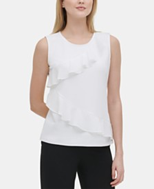 Calvin Klein Ruffled Top