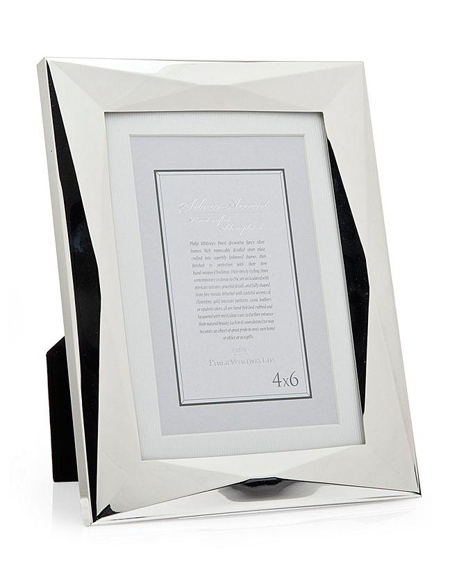 Philip Whitney Silver Geometric Frame - 5x7