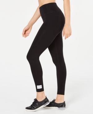 Calvin Klein Performance High-rise Logo 7/8 Length Leggings In Black