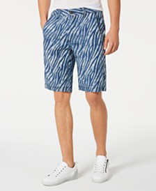 I.N.C. Men's Zebra Print Shorts, Created for Macy's