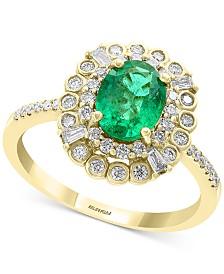 EFFY® Emerald (1-1/8 ct. t.w.) & Diamond (1/2 ct. t.w.) Ring in 14k Gold