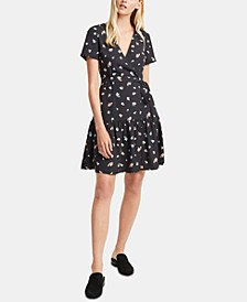 Frida Arimose Floral-Print Crepe Fit & Flare Dress