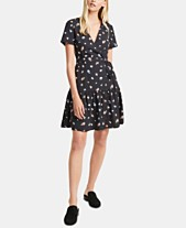 e55006d689a French Connection Frida Arimose Floral-Print Crepe Fit & Flare Dress