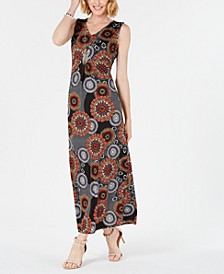 Petite Sleeveless V-Neck Maxi Dress