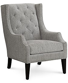 "Queenstin 29"" Fabric Tufted Wing Chair, Created for Macy's"