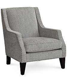 """Mycal 31"""" Fabric Cut-Away Chair, Created for Macy's"""
