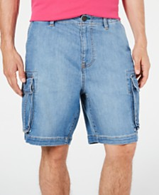 "Tommy Hilfiger Men's 9"" Denim Cargo Shorts"
