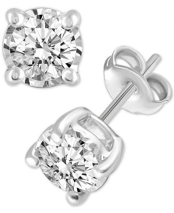 Macy's Diamond Stud Earrings (3/4 ct. t.w.) in 14k White, Yellow or Rose Gold