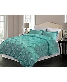 Pintuck Design Down Alternative Comforter, Full/Queen