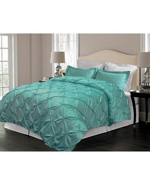 Blue Ridge Pintuck Design Down Alternative Comforter, Full/Queen