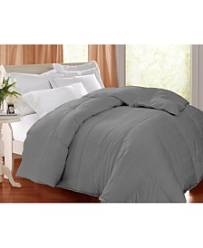 Blue Ridge 400 Thread Count Damask White Goose Feather/ Down Comforter, Twin
