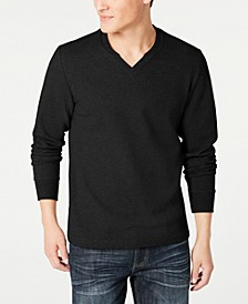 INC Men's Textured Split-Neck Sweatshirt, Created for Macy's