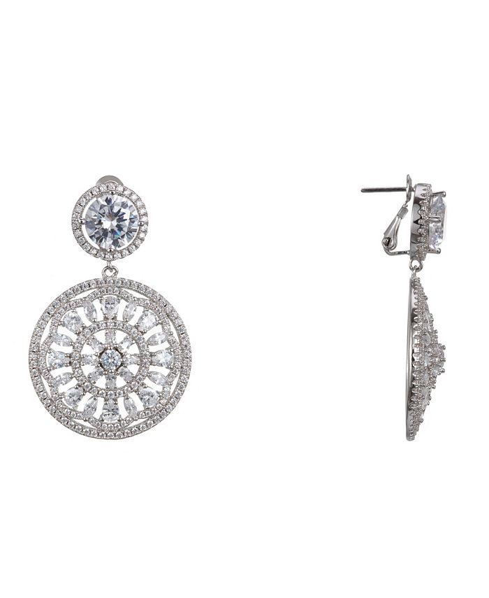 Nina - Medallion Clip Earrings