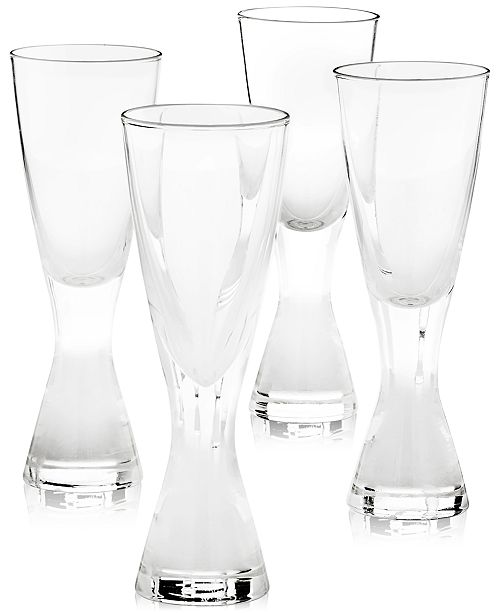Hotel Collection Plateau Shot Glasses, Set of 4, Created for Macy's