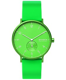 Skagen Aaren Kulor Neon Silicone Strap Watch 41mm