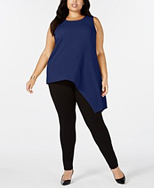 Plus Size Asymmetrical Tank Top, Created for Macy's