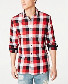 Men's Milford Regular-Fit Check Shirt, Created for Macy's