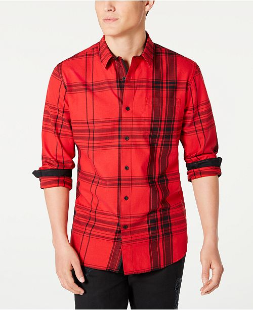 American Rag Men's Frank Regular-Fit Plaid Shirt, Created for Macy's