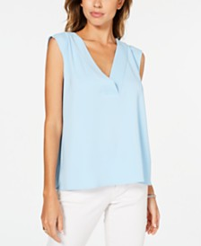 Alfani Petite V-Neck Sleeveless Top, Created for Macy's