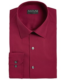AlfaTech by Alfani Men's Big & Tall Reg Fit Performance Stretch Easy-Care Solid Dress Shirt, Created for Macy's