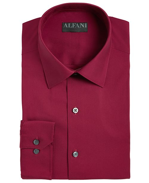 Alfani Men's Big & Tall Reg Fit Performance Stretch Easy-Care Solid Dress Shirt, Created for Macy's